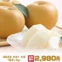 訳あり 福島県産 梨「 豊水」「南水」3キロ(8〜13玉)超新鮮朝摘みでお届けいたします!抜群の甘さ、みずみずしさ!甘さ溢れる果汁!