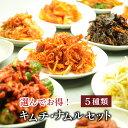 栄養士が作っている 選んで キムチ ナムルセット5類 白菜キムチ 海鮮キムチ 3〜5人前 【送料無料】北海道、九州、沖縄、中国.四国、を除く。 】