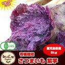 紫芋 送料無料 5kg 有機栽培 鹿児島県産 アントシアニンが豊富 パープルスイートロード ナカムラサキ さつまいも オーガニック
