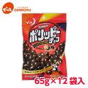 でん六 ポリッピー チョコ 65g×12袋入【ケース販売】ピーナッツ チョコレート