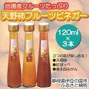 【ふるさと納税】010-026 地場産フルーツ使用!「天野柿のフルーツビネガー」(120ml×3本)