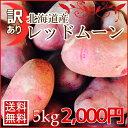 【送料無料】訳あり北海道産じゃがいもレッドムーン(5kg)※現在2200円となります