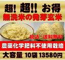 【新米】無農薬の発芽玄米白米モード楽々炊飯!圧倒的に美味しい無農薬の玄氣1.5kg×10袋(15kg真空パック)【無農薬 玄米 発芽玄米 無洗米】