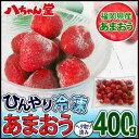 福岡県産冷凍いちご(あまおう)400g 無添加( 冷凍 いちご イチゴ 苺 ジャム 手作り フルーツ 冷凍フルーツ 無添加 トースト ) 独身の日