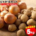 野菜セット ギフト北海道産 じゃがいも じゃが玉セット メークイン3kg(LMサイズ)&玉ねぎ2kg(Lサイズ)合計5kg【お届け日時指定可 ジャガイモ めーくいん メイクイン 玉ねぎ セット】【10_OFF】