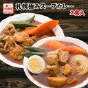 カレー 送料無料 2種から選べる 札幌極みスープカレー 2食 豚角煮 チキン 北海道 レトルト