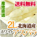ホワイトアスパラ 2L 北海道産 送料無料 1kg ホワイト アスパラガス