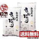 新米 キヌヒカリ 10kg(5kg×2) 令和3年産 新潟産 米【送料無料】(北海道、九州、沖縄除く)