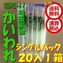 【税込 バラ売り】埼玉県産他 カイワレ シングルパック 20パック1箱(貝割れ 貝割 かいわれ)上越フルーツ