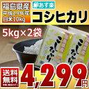 コシヒカリ 5kg×2袋 白米 10kg 福島県 29年産 送料無料 あす楽_土曜営業