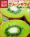 ゼスプリキウイフルーツグリーンキウイ3kg箱(30-33玉)
