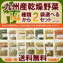 九州産乾燥野菜14種類から2袋選べるセット/オマケ付メール便 送料無料 チャック付 九州産 国産 ボイル済み 保存食 時間短縮 スープ 小分け こわけや