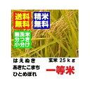 29年産 山形県産一等米  はえぬき ひとめぼれ あきたこまち 玄米 25kg 精米・送料無料 小分け・無洗米対応:30kg商品からかわりました