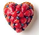 ハート型のいちごとブルーベリーのタルト フルーツケーキ 記念日ケーキ バースデーケーキ、記念日ケーキ用に! 記念日 ☆ 【バースデイケーキ】