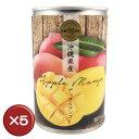 【送料無料】沖縄県産アップルマンゴー缶詰 5個セット|マンゴー|沖縄マンゴー|マンゴー缶[食べ物>フルーツ>マンゴー]