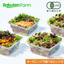 【割引クーポンあり】オーガニックで楽しむセット付 100% オーガニック野菜 3種のサラダ 80g×4個 国産