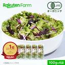 【割引クーポンあり】100%オーガニック 野菜サラダ 100g x 4袋【ミックス】