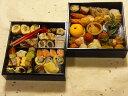 京都、冷蔵、二段重おせち(自家製手作り・生おせち・数量限定)3人から4人用、約30種入、約20センチ角、簡易重箱入り