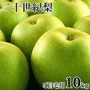 二十世紀梨(20世紀梨)10kg詰(32玉前後入/サイズ不揃い) 鳥取県産 訳あり(ご自宅用) 送料無料