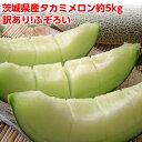 早期ご予約 メロン 訳あり 送料無料 ふぞろいのタカミメロン約5kg (3玉〜6玉・玉数は選べません)茨城県産 果物 フルーツ