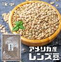 まめやの底力 大特価 アメリカ産レンズ豆(皮つき) 1Kg【限定品】
