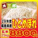 平成29年度 福島県産 ひとめぼれ 玄米25kg又は白米22.5kg 送料無料 米