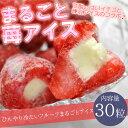 送料無料 まるごと苺アイス 30粒 ※練乳いちごアイス、アイス、イチゴ、あいす【RCP】