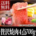 【ギフト】焼肉セット700g 送料無料 黒毛和牛肉 国産 カルビ ロース使用 焼き肉セット,バーベキューセットとして利用可能 内容は黒毛和牛カルビ 黒毛和牛ロース 鹿児島豚カルビ 鶏ももです。 内祝 誕生日祝 快気祝