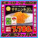 ■新米■30年産 宮城県産 ササニシキ 20kg 【米】 玄米,5分,7分,精白米(精米時重量約1割減)【dp】【SS12】