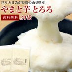 とろろ 山梨県産 やまと芋 冷凍 とろろ 50g x 20袋 送料無料 お中元/大和芋/とろろ蕎麦/山かけ