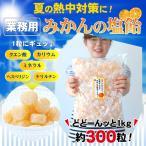 熱中飴、熱中対策、夏バテ対策に!業務用 みかん塩キャンディ(みかん塩飴) 1kg(3g× 約300粒)入 ※3袋で送料無料(北海道、沖縄を除く)