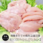 鶏肉 国産 紀州うめどり むね肉&ささみ 2kg 業務用