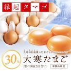 和歌山県産 卵「大寒 たまご 30玉」(破損保証5玉含む)【縁起タマゴ】紀州うめたまご 太陽のたまご 海藻草たまご