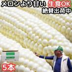 とうもろこし ピュアホワイト 生で食べれる 白いとうもろこし 糖度18〜19度 香川 三豊産 トウモロコシ 2L-Lサイズ 混合 5本入り
