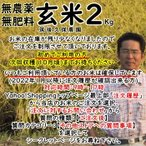 無肥料栽培米 2Kg// 玄米 | 無農薬 福岡県産 元気つくし 筑後久保農園