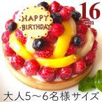 誕生日ケーキ バースデーケーキ フルーツタルト レアチーズ お取り寄せ フルーツのバースデーケーキ5.5号 直径16cm【即日出荷可】【プレート・キャンドル無料】