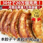 【hon48kuro48】餃子 ぎょうざ 黒餃子と本餃子合計96個!約16人前相当!/プレゼント/ランキング