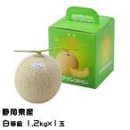 クラウンメロン 静岡県産 白等級 約1.2kg 1玉  お歳暮 ギフト 送料無料