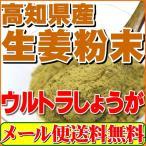 生姜粉末しょうがパウダー100g(高知県産ウルトラ生姜)殺菌蒸し工程 1cc計量スプーン入り「メール便 送料無料」
