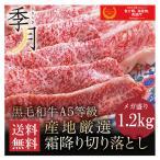 牛肉 A5等級 黒毛和牛切り落とし すき焼き 焼きしゃぶ 送料無料 メガ盛1.2kg 400g×3パック お取り寄せ グルメ 大容量