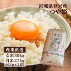 お米 29年産 30kg 玄米 つや姫 宮城県産 米 ごはん