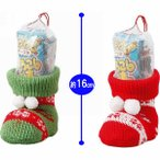 クリスマス お菓子ブーツ クリスマスニットブーツ かわいい スナック菓子