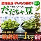 だだちゃ豆 数量限定 幻の枝豆「白山だだちゃ豆・本豆 1kg」 木村名人の完熟だだちゃ豆 本豆 1kg(500g×2袋)クール便
