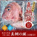 真鯛の頭 (冷凍・養殖) 10尾分 九州 熊本 天草産 送料無料 業務用 タイ アラ あら 頭 下カブト かぶと