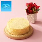 母の日ギフト 遅れてごめんね プレゼント スイーツ 花 チーズケーキ レア ベイクド ルタオ ドゥーブルと選べるお花のセット