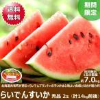 【予約】お中元 スイカ らいでんすいか 2玉 (JAきょうわ共撰 秀品 1玉 7.0kg) 北海道すいか 北海道スイカ 送料無料 ギフト