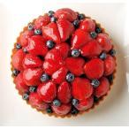 誕生日ケーキ いちごとブルーベリーのタルト   (6号)