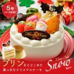 クリスマスケーキ(5号)Snow〜プリンをとじこめた真っ白なクリスマスケーキ〜(5号 4人 子ども ケーキ サンタ 飾り 予約 2019 京都 冷凍)