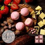 京都いちごショコラ大福(4個入)(京都 お菓子 お土産 スイーツ チョコ チョコレート 苺 いちご 会社 チョコ餅 お取り寄せ お返し プチギフト