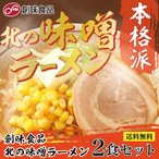 創味 北の味噌ラーメン 2食セット 京都の人気調味料屋が作るプロが認めた業務用スープ使用 ポスト投函便 送料無料